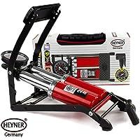 Heyner Pedalmax - Bomba de pedal doble con manómetro (10 bares, 140 PSI)