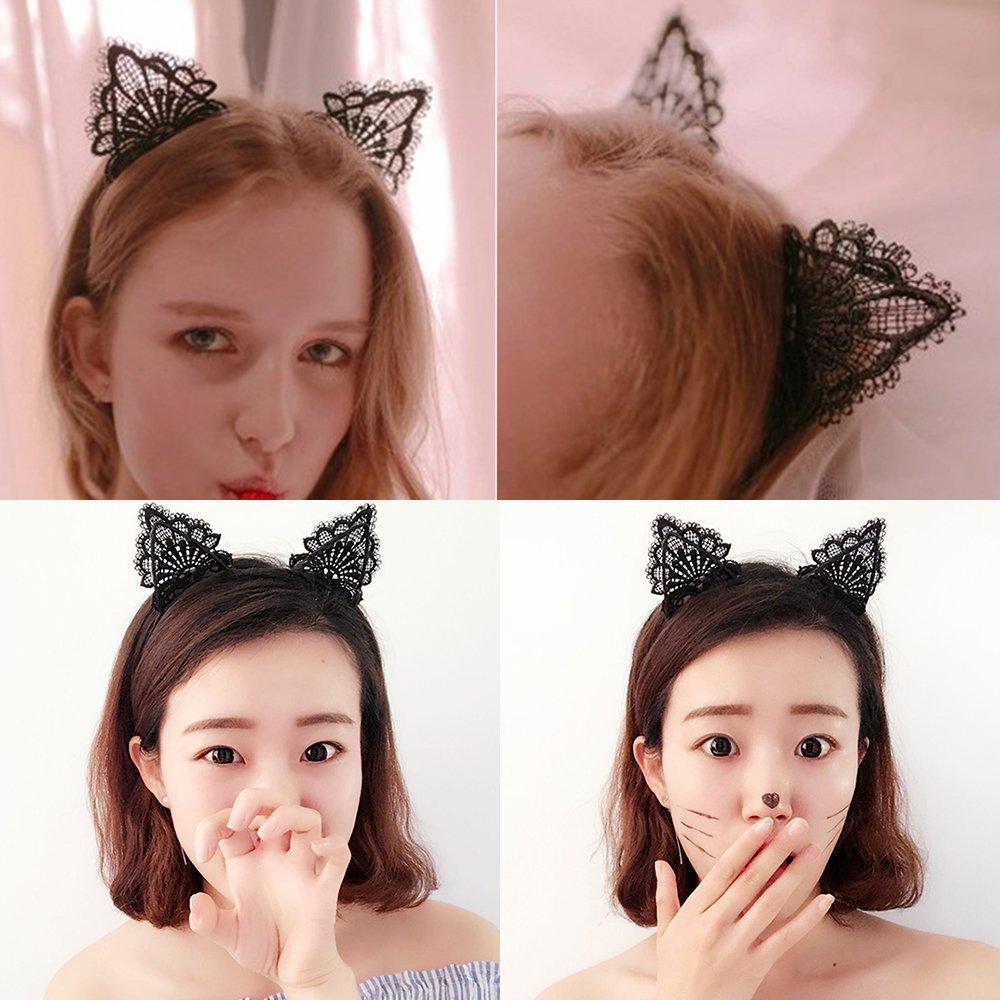 Luxury Big Pearl Headband Women Cat Ear Hairband Hoops Girls Hair Accessories CA