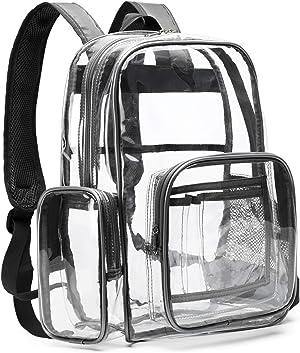 Packism Packism Heavy Duty Clear Backpack Large Waterproof Transparent School Bookbag