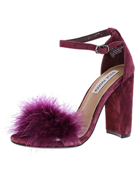 82325758865 Steve Madden Women s Carabu Suede Burgundy Ankle-High Pump - 6M