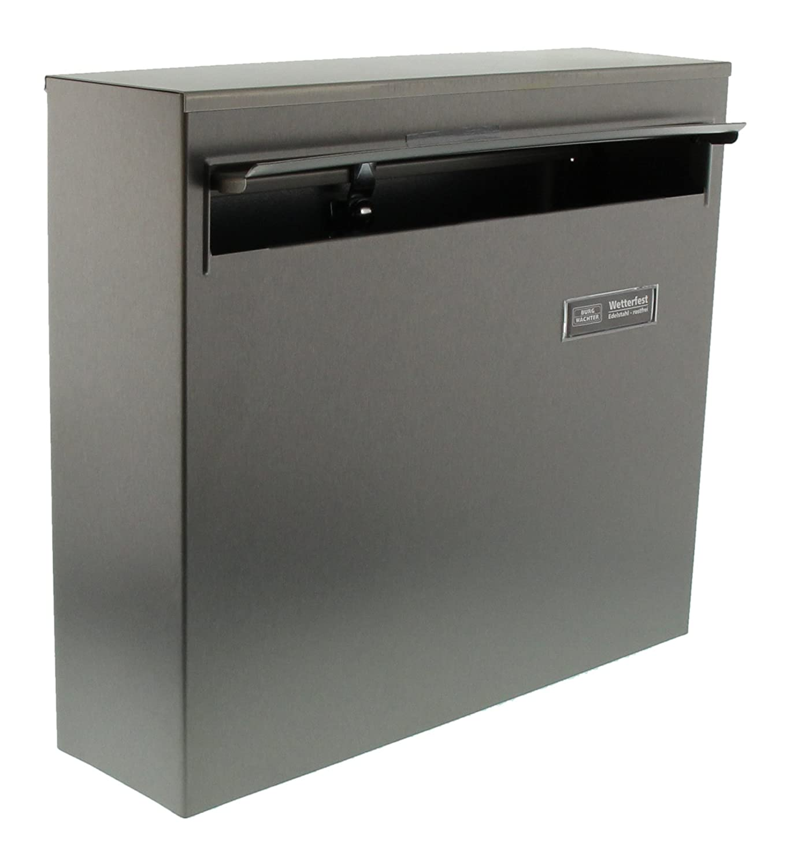 Borkum 3878/ni bo/îte aux lettres en acier inoxydable avec /öffnungsstopp acier inoxydable format A4/fente Burg-W/ächter