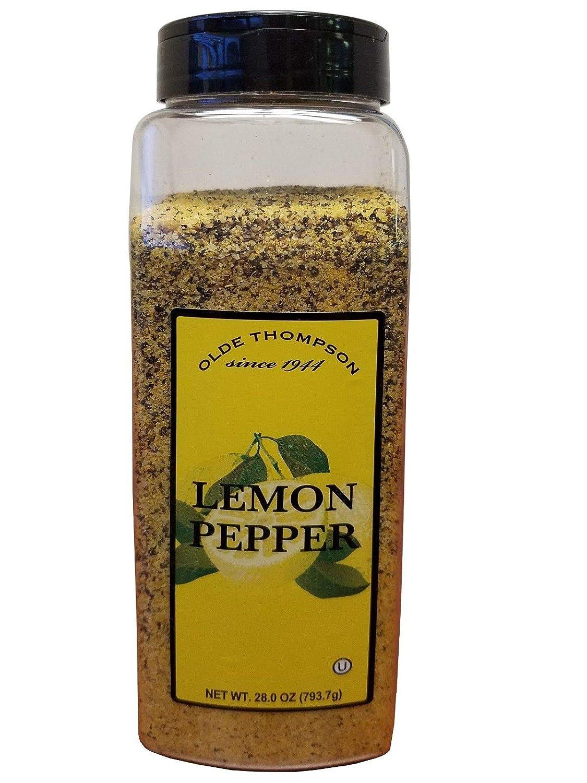 Lemon Pepper Seasoning - Olde Thompson - Seasoning for seafood, chicken, steaks, potatoes, and vegetables
