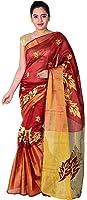 Vatsla Enterprise Women's Cotton Saree With Blouse Piece (Vmrnhnsctn_Maroon)