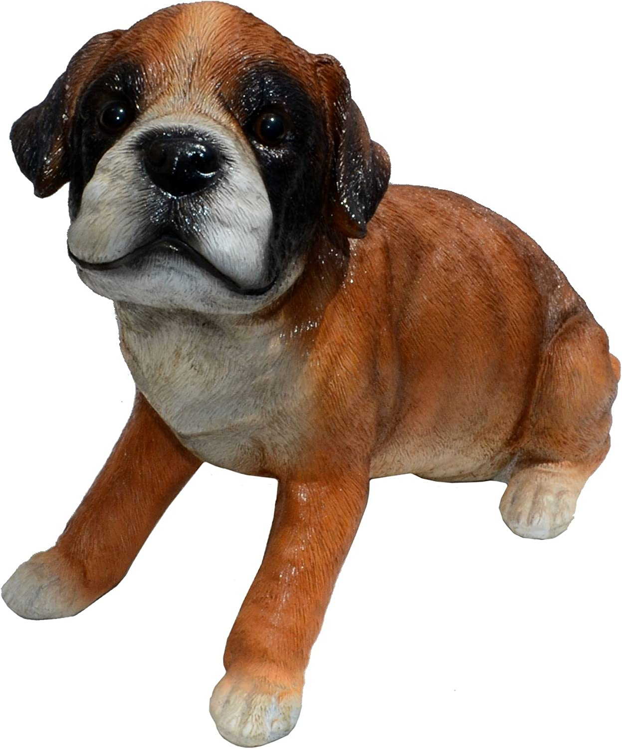 Michael Carr Designs Punch-Boxer Puppy M Outdoor Puppy Dog Figurine for Gardens, patios and lawns (80108)