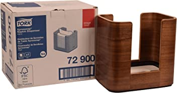 Tork 72900 Image Xpressnap Napkin Dispenser, Wood, 7.6