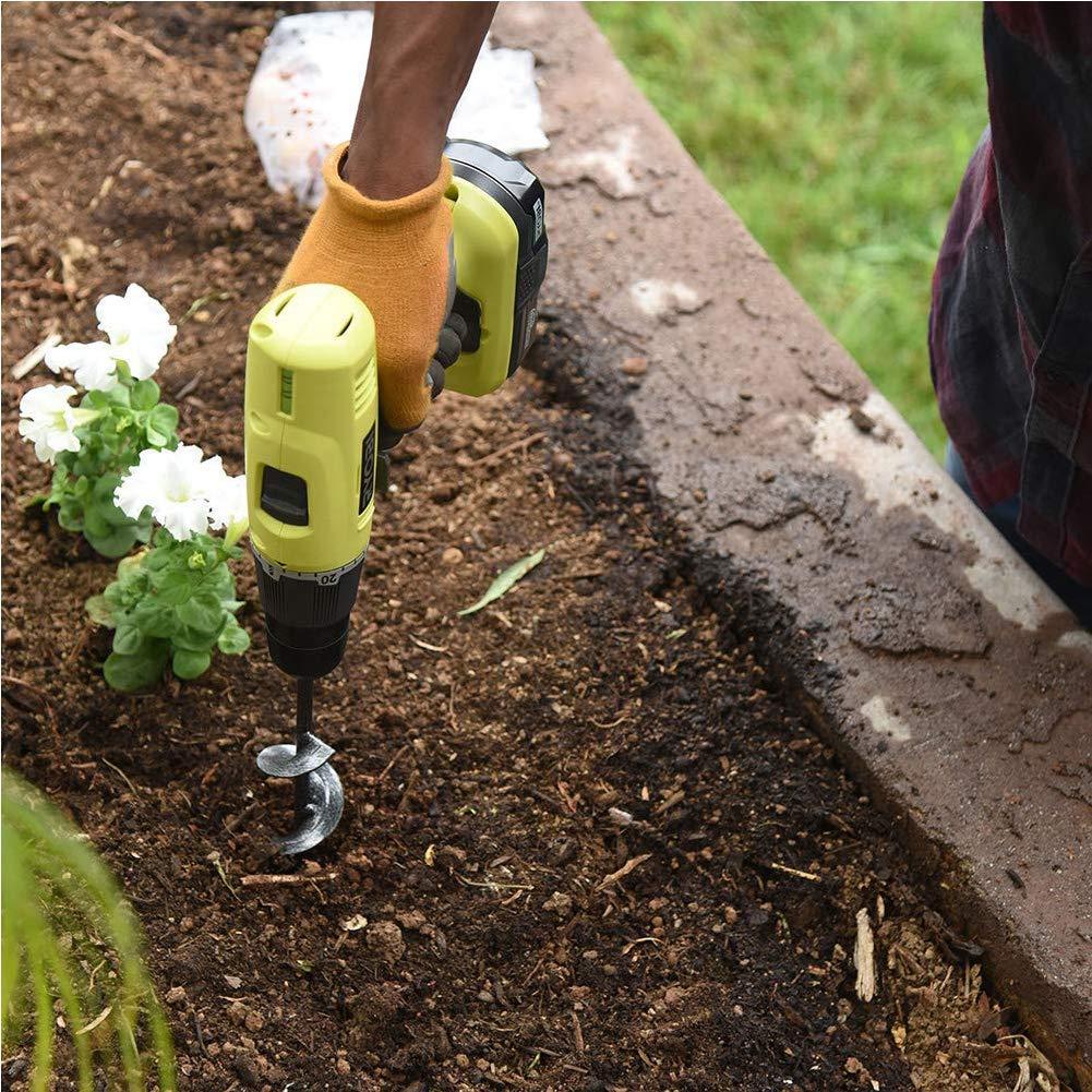 "3.5/"" x 10 /"" Garden Plant Flower Bulb HEX Shaft Auger Non-Slip Earth Auger Bit Fence Post Hole Digger Drill Bit- Bulb /& Bedding Plant Auger Yaoyodd19 Auger Drill Bit"