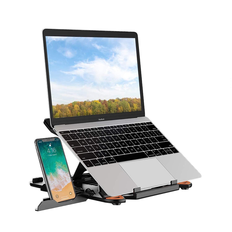 Dell XPS Lenovo M/ás Port/átil de 10-17 pulgadas Soporte para Laptop Port/átil Ajustable Soporte Notebook para Tel/éfono Soporte Compatible con MacBook Air Pro Nero HP