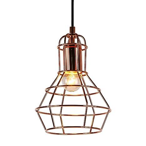 [lux.pro] Lámpara De Techo moderna cobre metal look-industria (1 x base E27) longitud 140cm