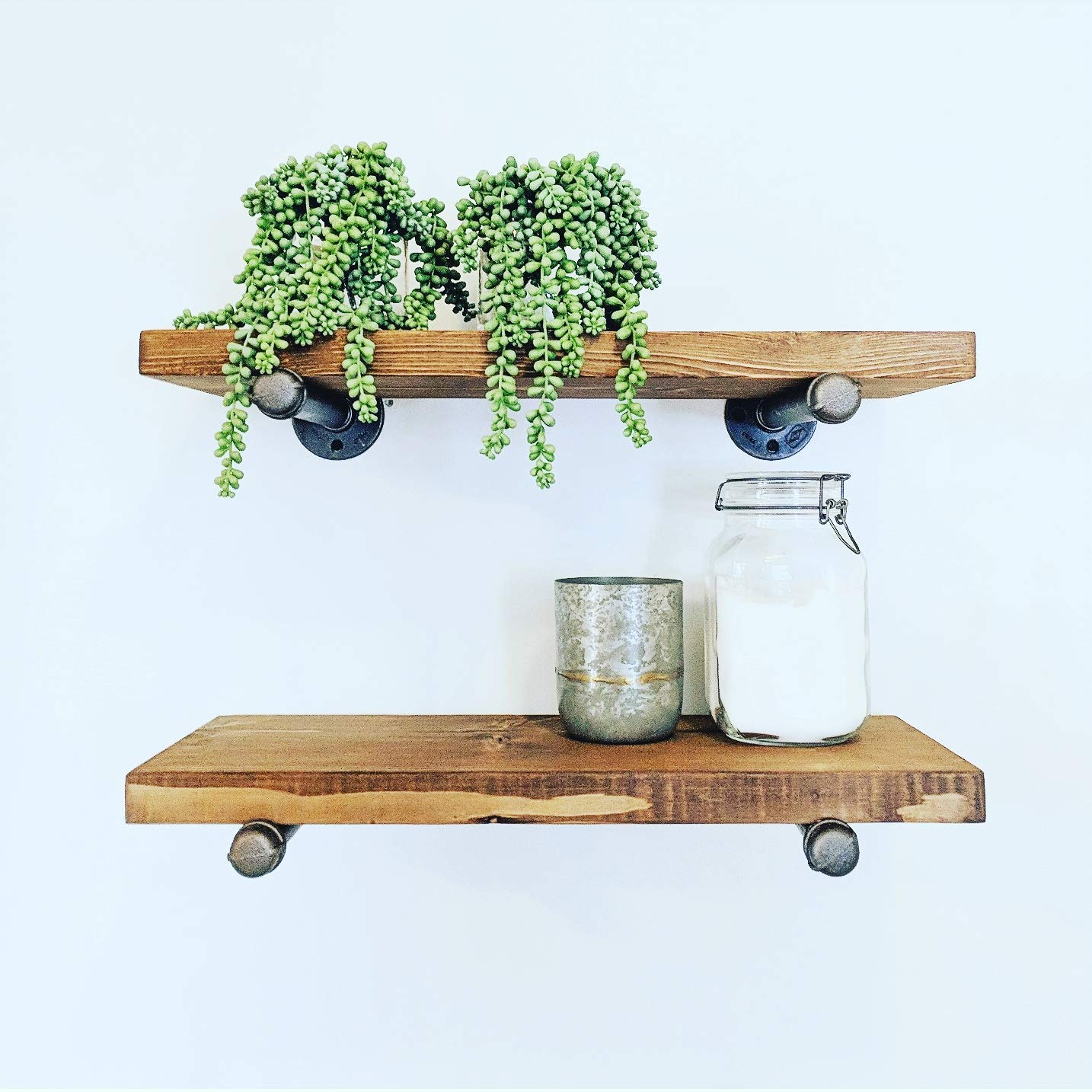 Industrial Floating Shelves 36 Inches x 9.25 inches (Set of 2), Industrial Floating Shelves, Industrial Floating Shelf, Rustic Floating Shelves