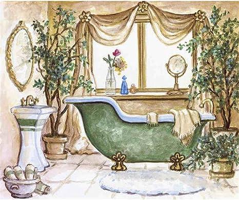 5D DIY Diamond Painting Shower Beauty Cross Stitch Embroidery Mosaic Kits #J