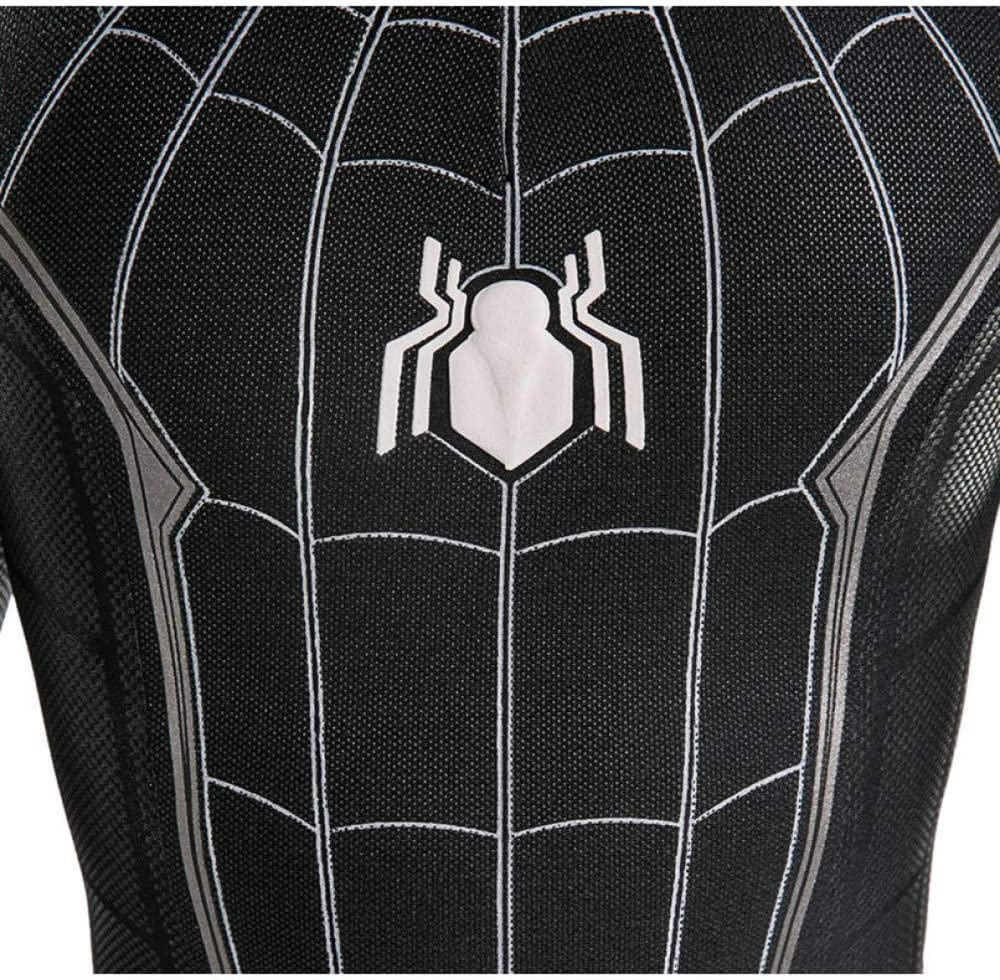 WEGCJU Spiderman Nero Costume Adulto Bambino Halloween Spandex Body Fancy Dress Party Movie Clothes,Adult-S