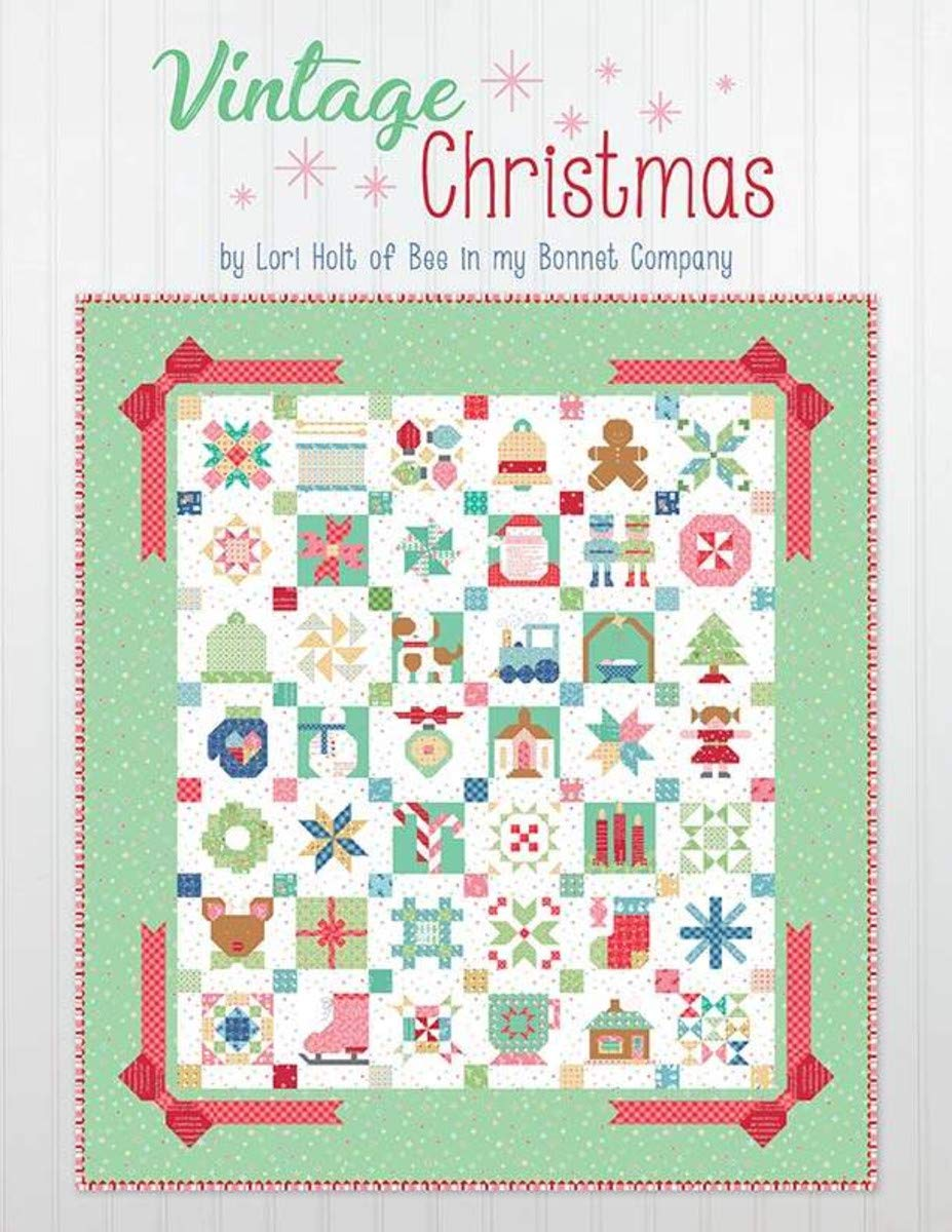 4 Sewing/Quilting Books by Lori Holt: Farm Girl Vintage 2 + Farm Girl Vintage + Vintage Christmas + Spelling Bee by Lori Holt