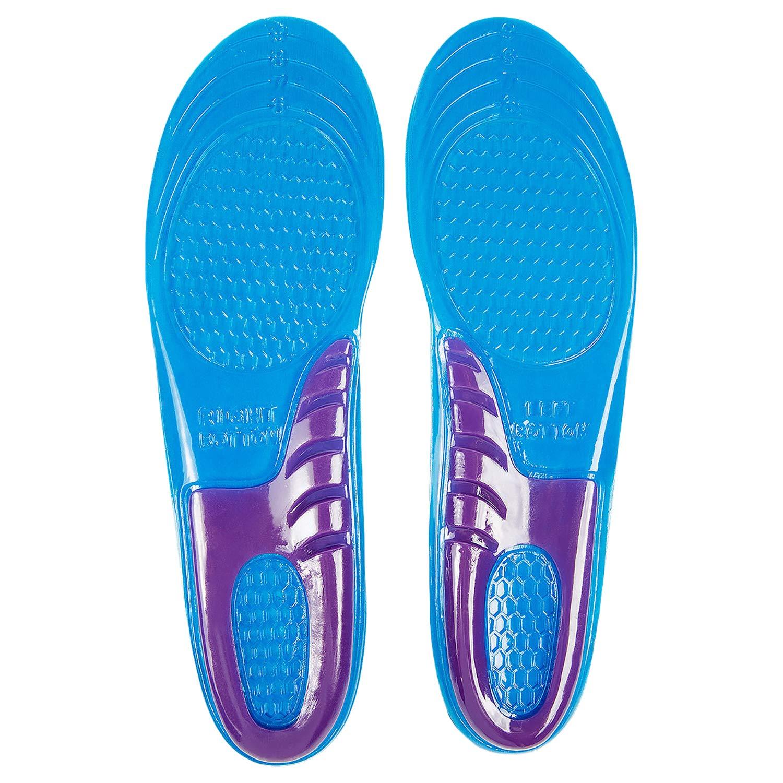Gel Insoles By Envelop - Shoe Inserts for Running, Hiking, More - Best Full Length Insoles for Men & Women - Advanced Design Lets Gel Insoles Absorb Shock (Men's 8-13)