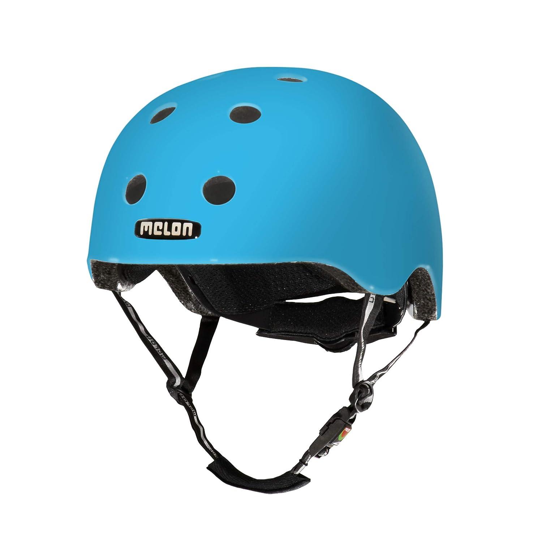 MELON Leichter Unisex Helm für Erwachsene und Kinder, Urban Active Blau matt XL-XXL