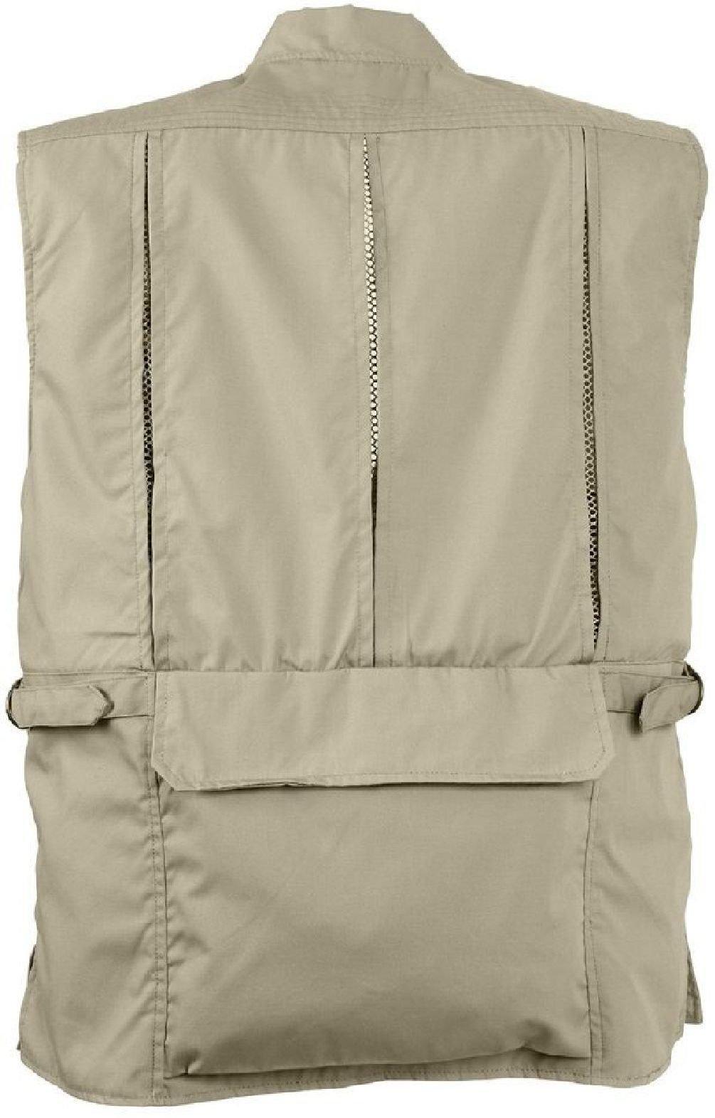 Khaki Undercover Tactical Plainclothes Concealed Carry Travel Vest