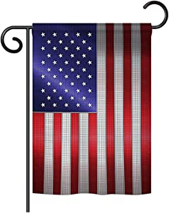 "Breeze Decor - Steel of Pride American Flag Flags of The World - Everyday Nationality Impressions Decorative Vertical Garden Flag 13"" x 18.5"" Printed in USA"