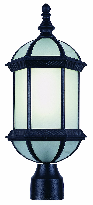 Trans Globe Lighting PL-4186 BK Outdoor Wentworth II 21'' Postmount Lantern, Black