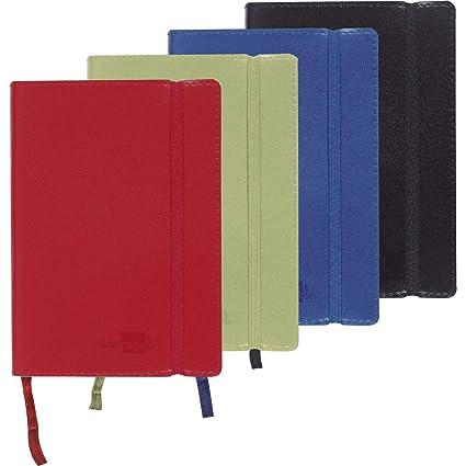 Liderpapel Libreta Símil Piel A6 120 Hojas 70 g/m² Liso Colores Surtidos