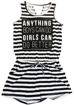 e765cffc2708 Amazon.com  Ideology Big Girls  (7-16) Graphic-Print Striped Romper ...