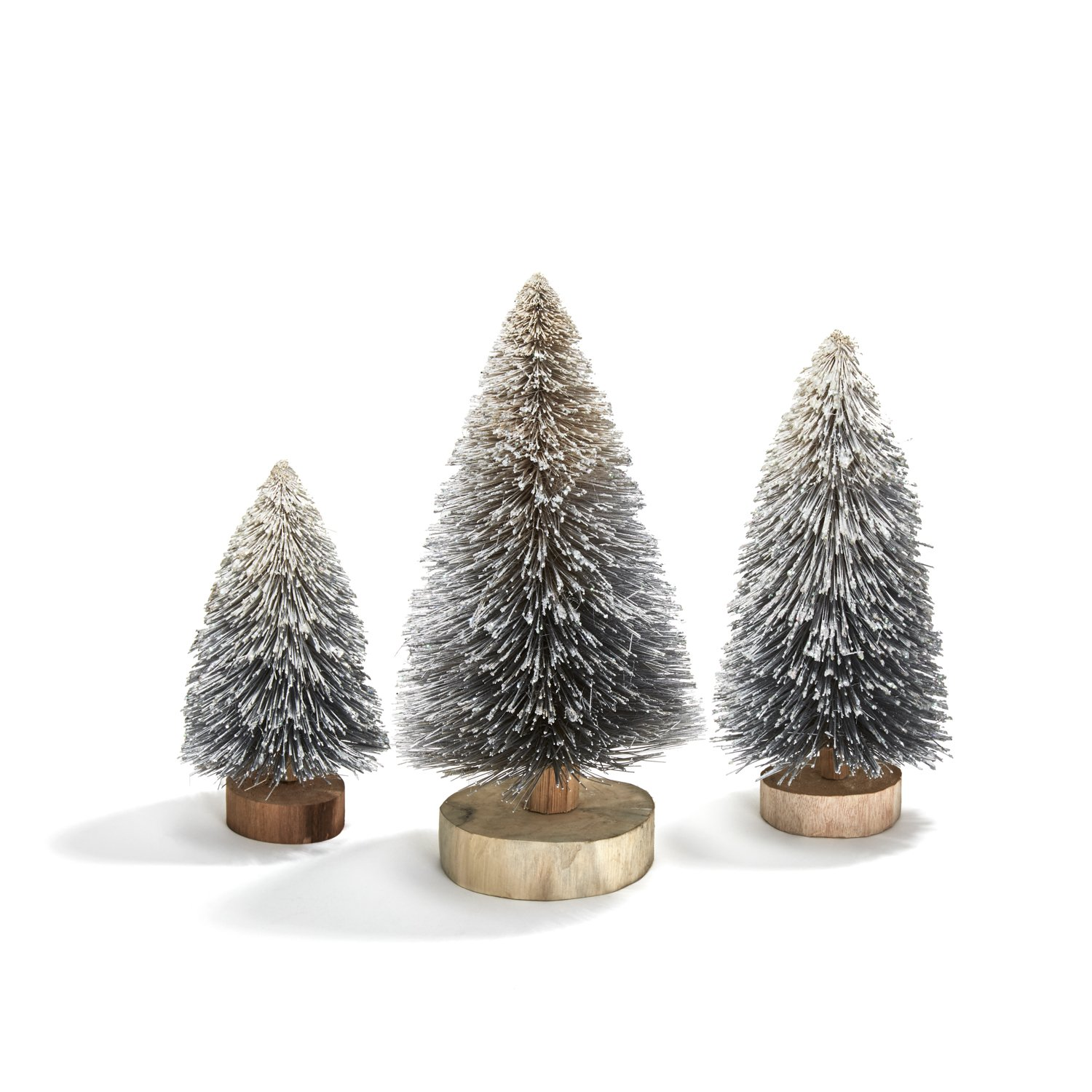 LampLust Bottle Brush Christmas Trees, Silver Sisal Table Top Decoration - Set of 3 by LampLust (Image #1)