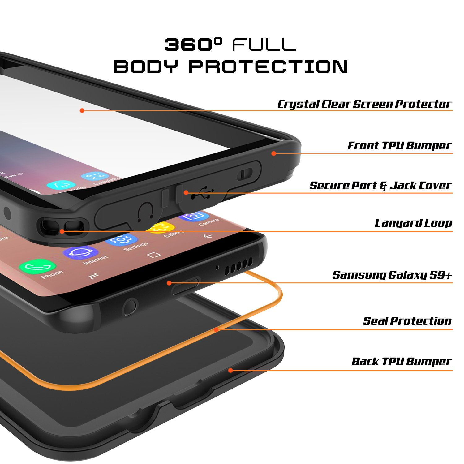 Amazon Galaxy S9 PLUS Waterproof Case Punkcase [StudStar Series] [Slim Fit] [IP68 Certified] [Shockproof] [Dirtproof] [Snowproof] Armor Cover for