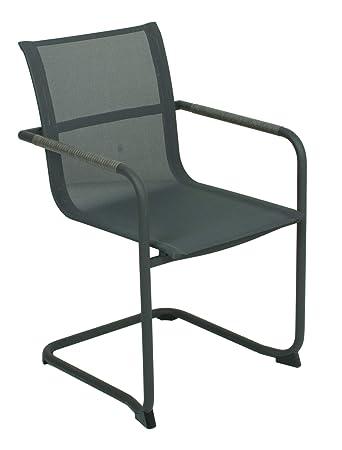4x Stühle Sessel Freischwinger Garten Balkon Stuhl Set Gartensessel zMVSUp