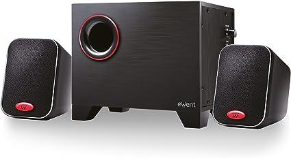 Ewent EW3505 Conjunto de Altavoces 2.1 Canales 15 W Negro - Set de Altavoces (2.1 Canales, 15 W, Universal, Negro, Giratorio, 2,5 W)