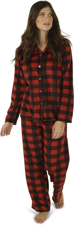 Totally Pink Women's Warm and Cozy Plush Fleece Winter Pajama Set Teen and Girls