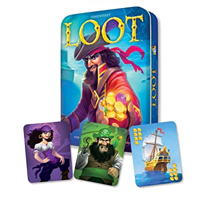 Gamewright Loot Deluxe Tin - The Plundering Pirate Card Game Card Game: Toys & Games