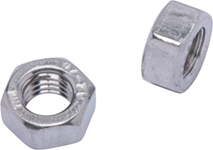 DIN 6923 Stainless Steel Nuts M3-.50 Metric Stainless Serrated Hex Flange Nut, 100 Pack 304 by Bolt Dropper 18-8