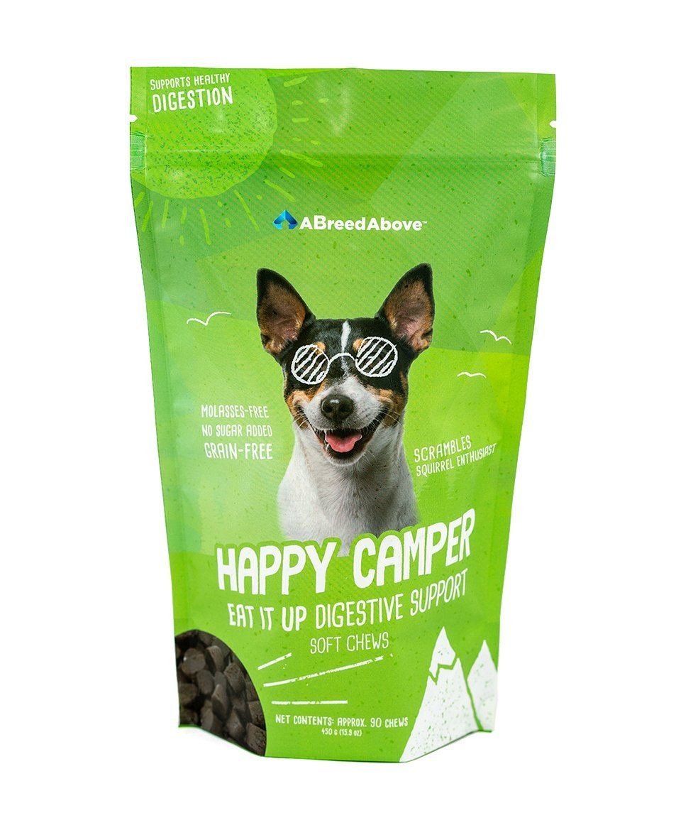 A Breed Above: Happy Camper Eat It up Digestion Support, 90 Count