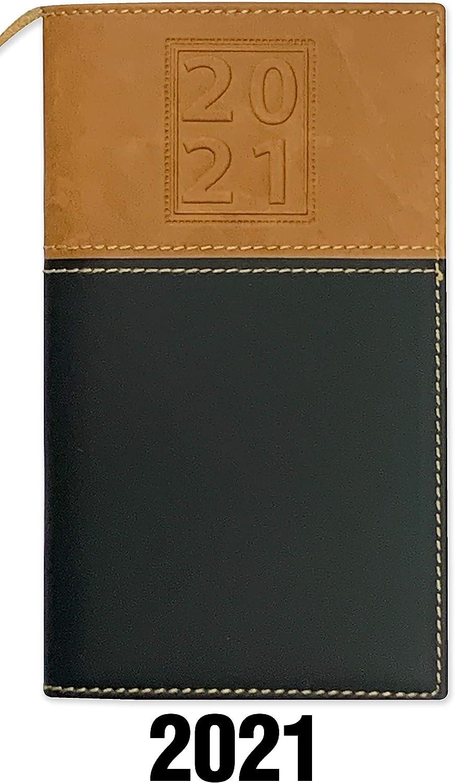 BookFactory 2021 Weekly Pocket Calendar /2021 Calendar /2021 Weekly Calendar/Weekly Planner Organizer - Calendar with Notepad (CAL-2021-POCKET(Organizer))