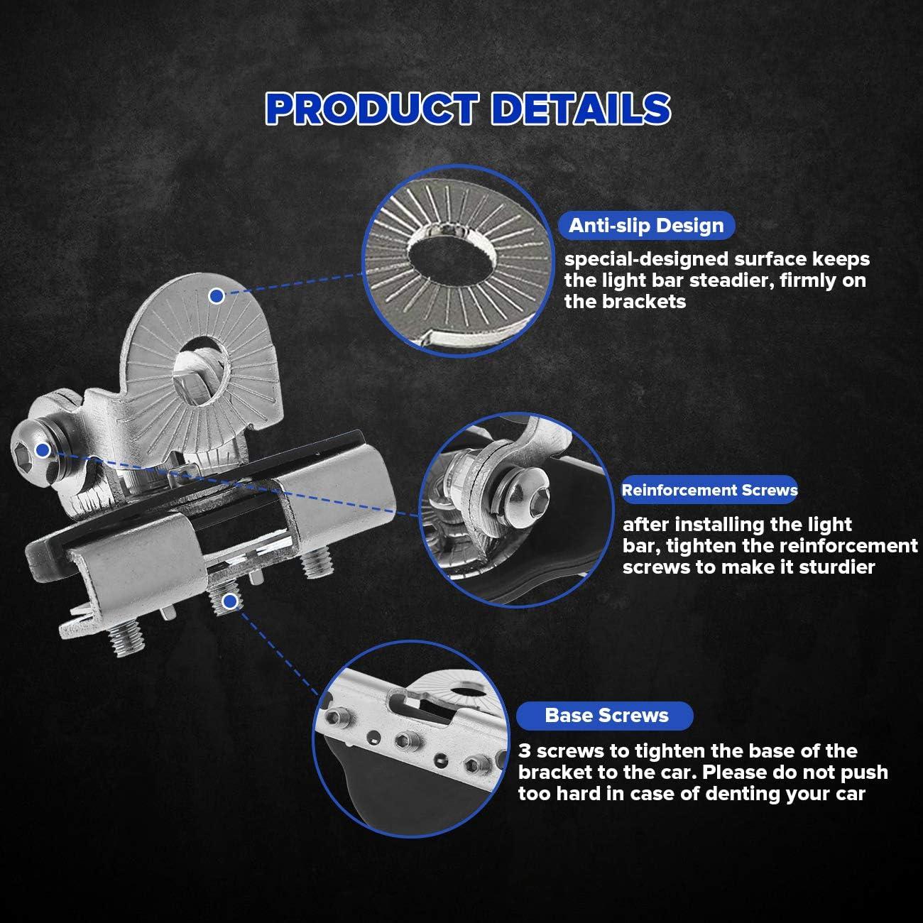 Universal 40XA Pillar Hood Led Work Car Light Bar Base Mount Bracket lamp Holder