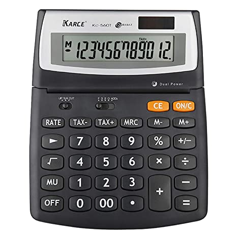 Amazon.com: KARCE KC-560T-12, Calculadora de impuestos de 12 ...