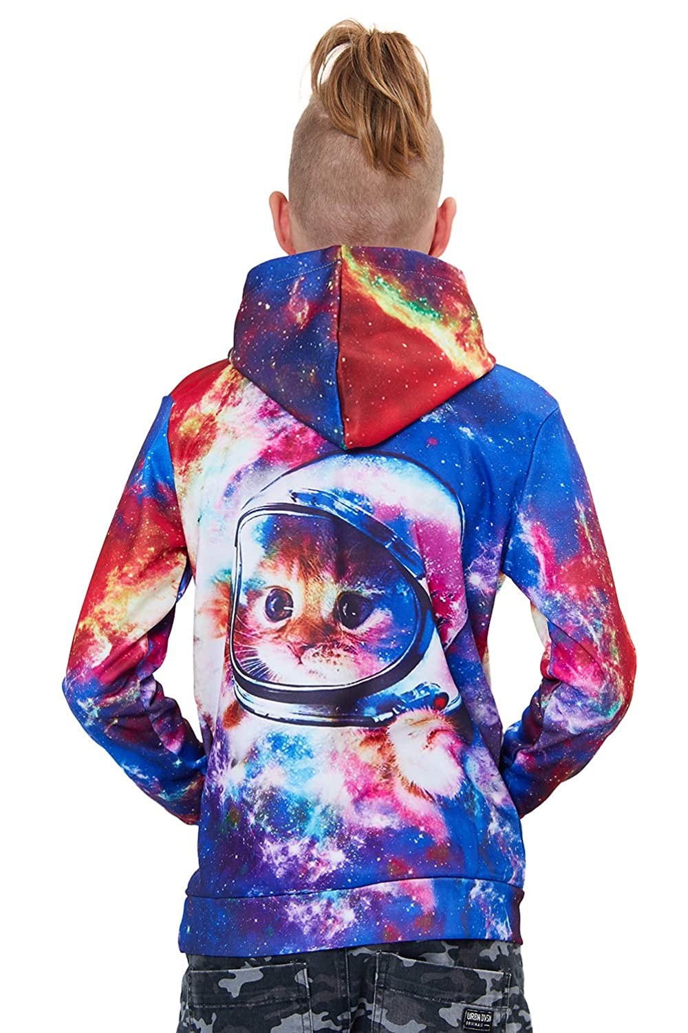 RAISEVERN/Unisex Child Hoodie/3D/Printed/Fleece/Casual/Novelty/Pullover/Hooded/Sweatshirt/for/Boys/Girls/Age/3-14