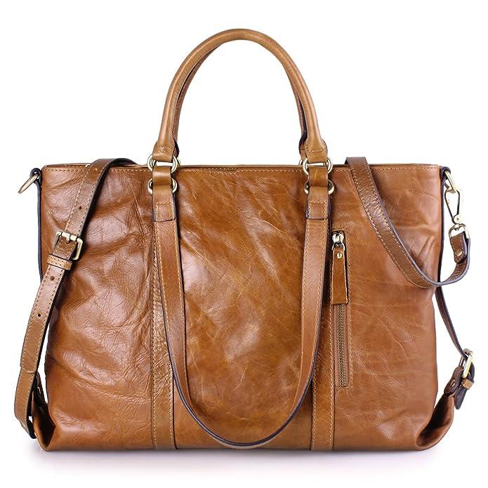 Amazon.com: AINIMOER Women's Retro Genuine Leather Large Capacity ...
