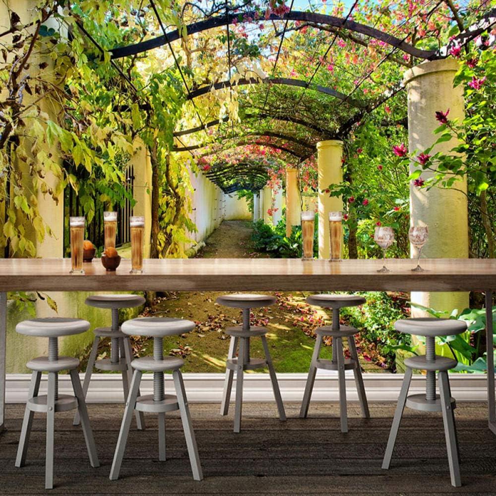 ZJfong Murales 3D Paisaje Jardín Foto Papel tapiz Gran sala de estar Hermoso fondo Papeles de pared-420x260cm: Amazon.es: Bricolaje y herramientas