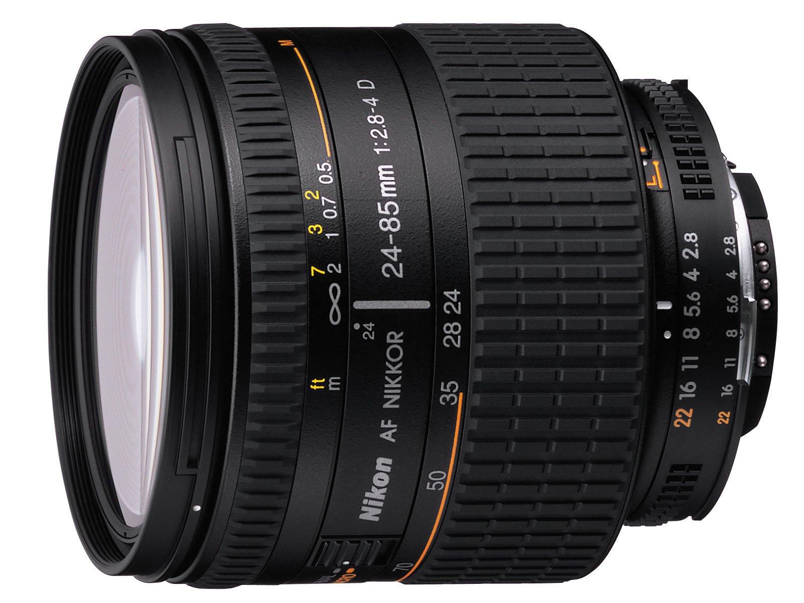 Nikon 24-85mm f/2.8-4 IF AF-D Nikkor Lens with Hood - International Version (No Warranty) by Nikon