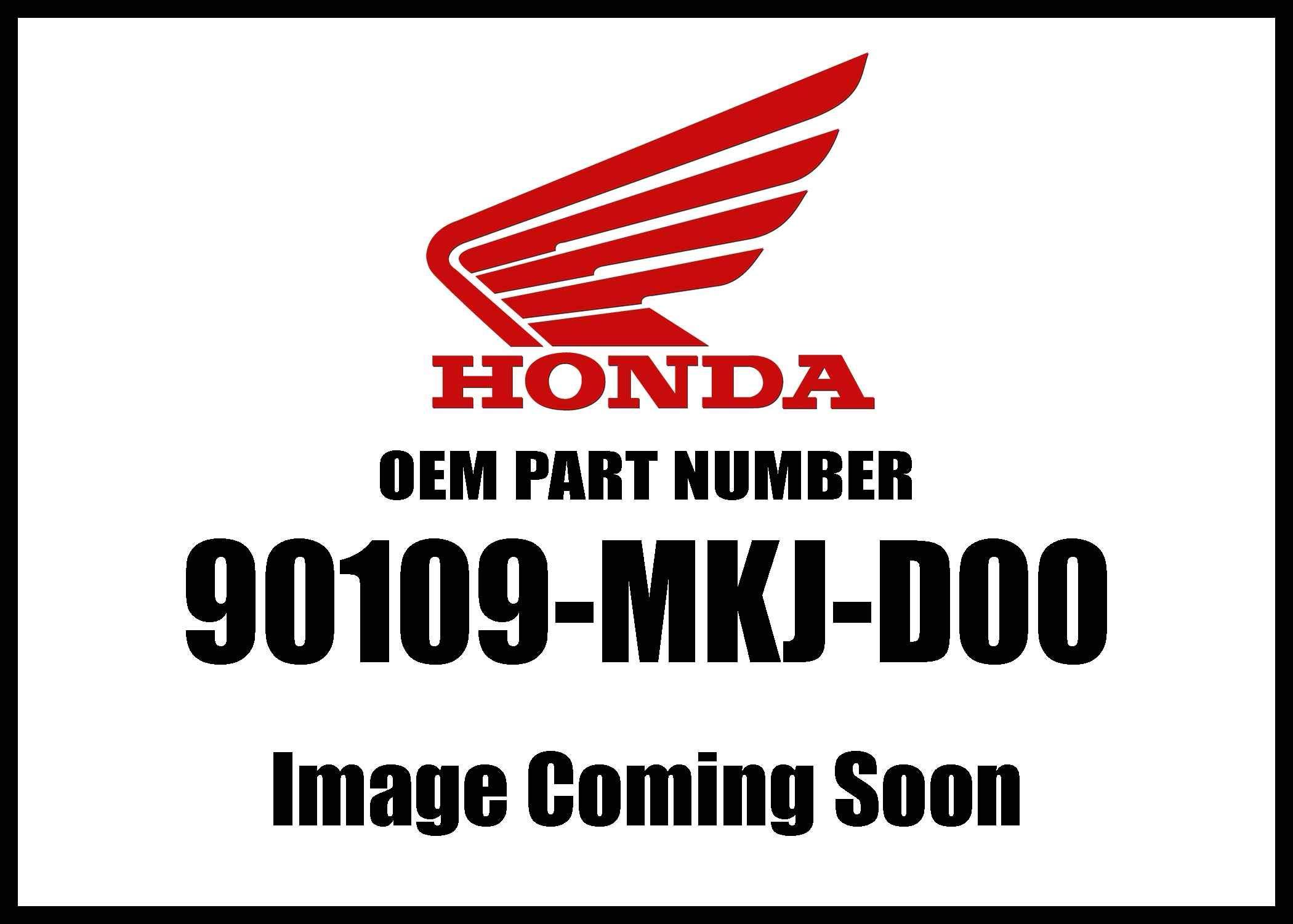 Honda Cb1000r '18 Bolt Flange 6X25 90109-Mkj-D00 New Oem