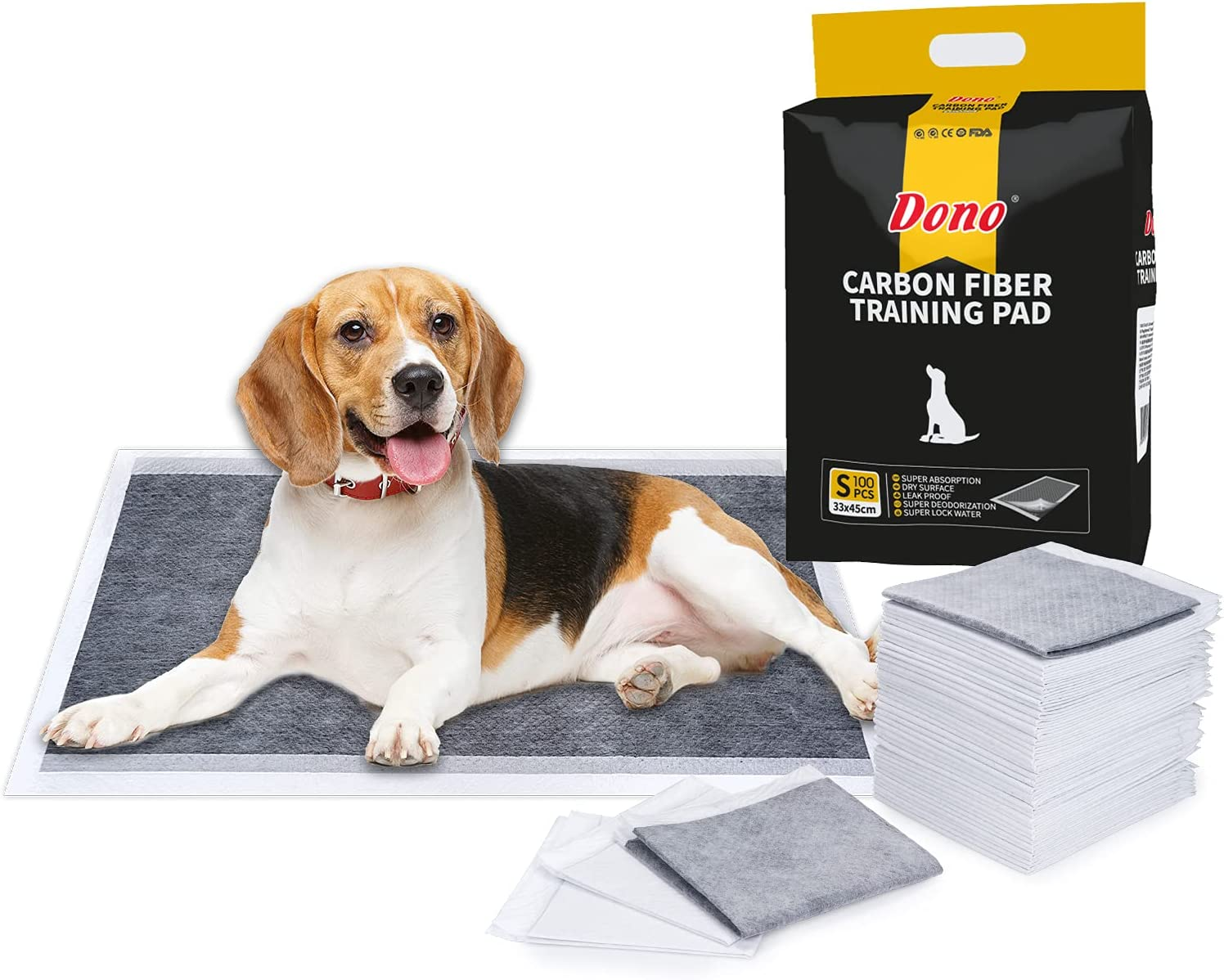 Dono Pet Training Puppy Pads - 100 Carbon Puppy Pee Wee Toilet Trainer Pads Super Absorbent Deodorizing Heavy Duty Dog Pet Pads S : Amazon.co.uk: Pet Supplies