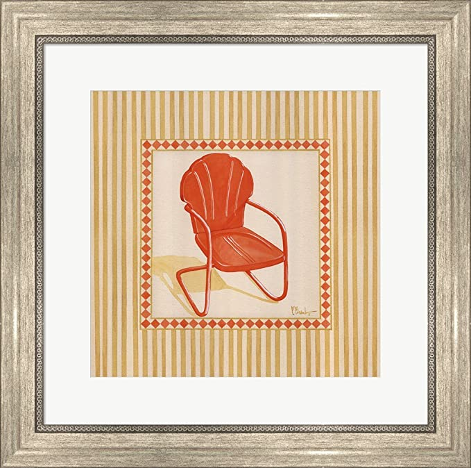 Wondrous Amazon Com Retro Patio Chair I By Paul Brent Framed Art Evergreenethics Interior Chair Design Evergreenethicsorg