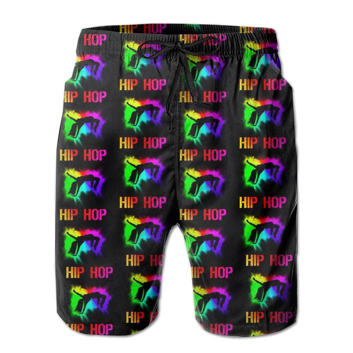 Mens Hip Hop Street Dance Summer Breathable Quick-Drying Swim Trunks Beach Shorts Cargo Shorts