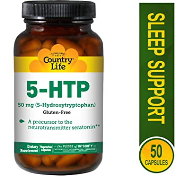 Amazon com: Country Life - 5-HTP L-Tryptophan 50 mg - 50 Capsules