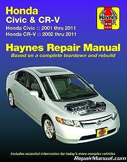 honda civic 2001 2010 crv 2002 2009 haynes repair manual haynes rh amazon com 2017 Civic Hatchback 2017 Civic Hatchback