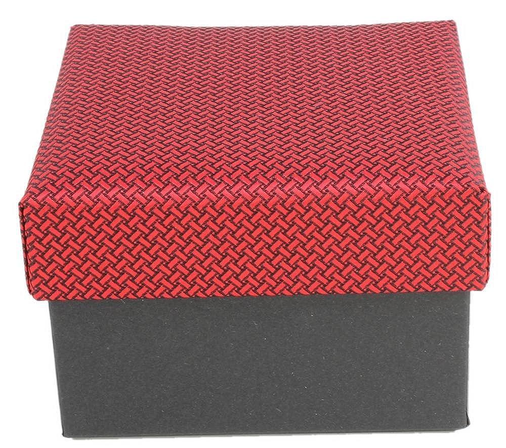 Red Knightsbridge Neckwear Mens Geometric Design Tie and Cufflinks Set