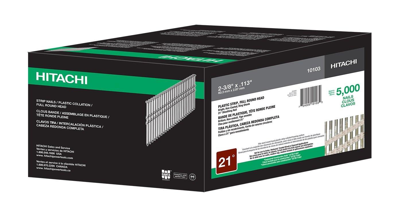 Hitachi 10103 2 3/8-Inch x .113 Ring Framing Nail