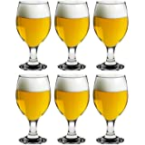 Rink Drink Beer/Craft Ale Glasses - 400ml (14oz) - Gift Box Of 6