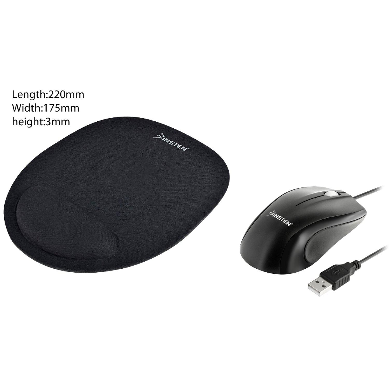 Amazon.com: Insten Negro USB 2.0 ratón ergonómico rueda de ...