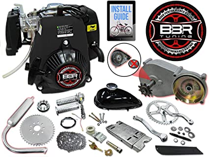 49 cc caballo volador 5 G Tire Start bicicleta Kit de Motor, 4 ...