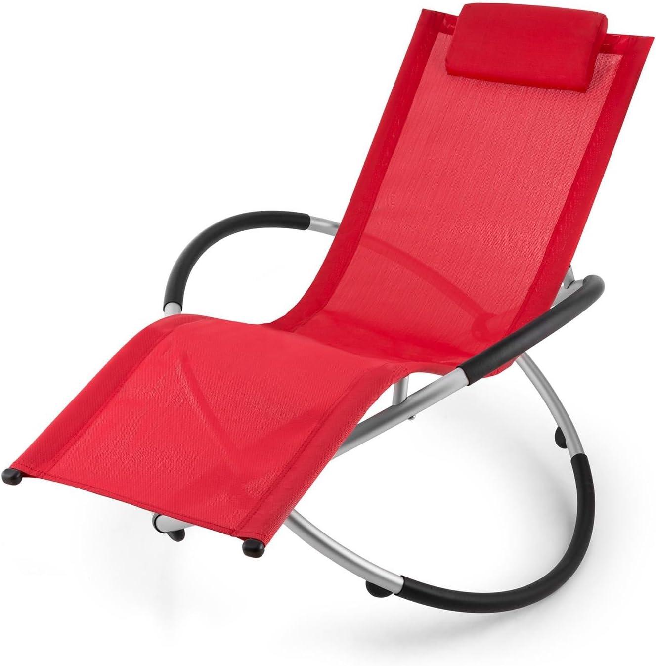blumfeldt Chilly Billy ergonomische Relaxliege Liegestuhl Gartenstuhl Klappstuhl Liege, 120 kg maximale Belastung, atmungsaktiv, witterungsbest/ändig, pflegeleicht, faltbar gr/ün